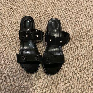 Women's Black Sandals Dressy 9.5M
